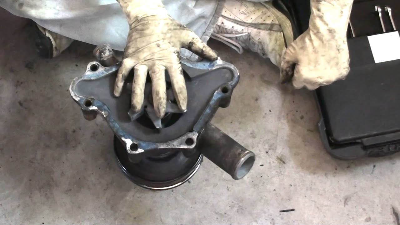 1988 3.9 Liter V6 Dodge Dakota Water Pump Removal and Replacement - YouTube