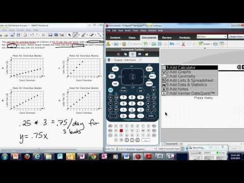 EOC Algebra 1 Calculator Tutorial-Category 3 Pt 1