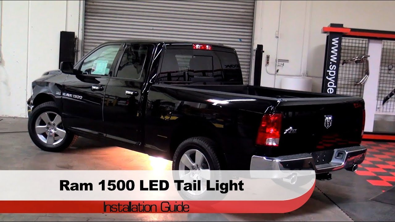 Spyder auto installation 2009 14 dodge ram trucks 1500 2500 3500 led tail lights youtube