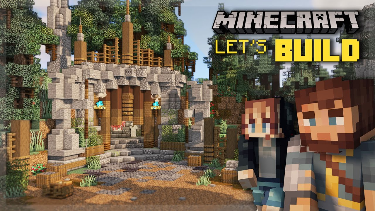 Building a Mine Entrance for our Minecraft World! | Minecraft Viking Village Build Series