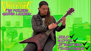 Bullet For My Valentine - The Poison (Guitar Lesson and Full Song Breakdown)