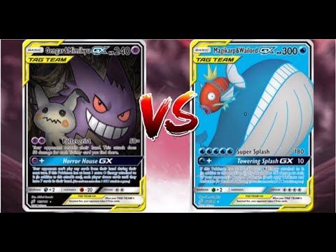 Pokemon TCG Online Gengar and Mimikyu GX Vileplume VS ... Wailord And Quagsire