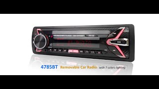 PHYEE Removable Autoradio Bluetooth Car Audio MP3 USB Stereo FM Radio