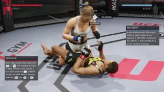 Ronda Rousey beating Amanda Nunes's stomach (UFC 2: Ryona Edition)