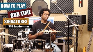 HOW To PLAY ODD TIME SIGNATURES w/ Easy Exercises