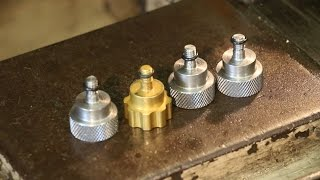 Making Custom Thumbscrews:  Turning and Knurling