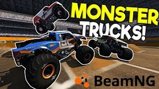 INSANE MONSTER JAM RALLY DERBY! - BeamNG Drive Gameplay - Monster Truck Crashes & Races