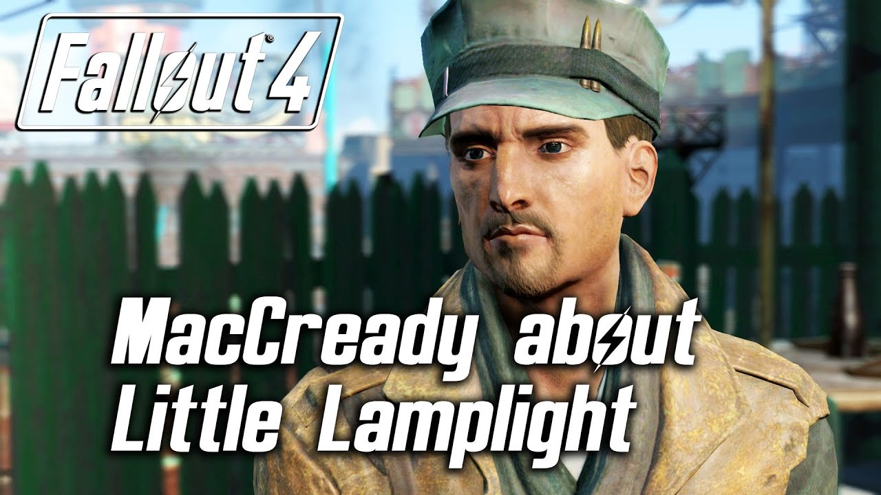 Fallout 4 - MacCready about Little Lamplight & leaving the ...