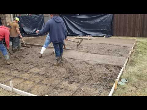 How to screed freshly placed concrete.