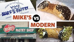 What's better? Mike's Pastry vs. Modern Pastry in Boston, MA