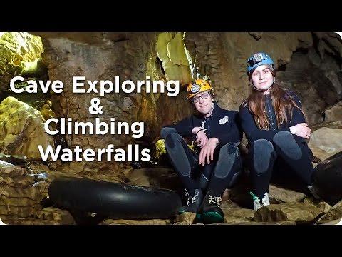 Cave Exploring & Climbing Waterfalls! | Evan Edinger Travel