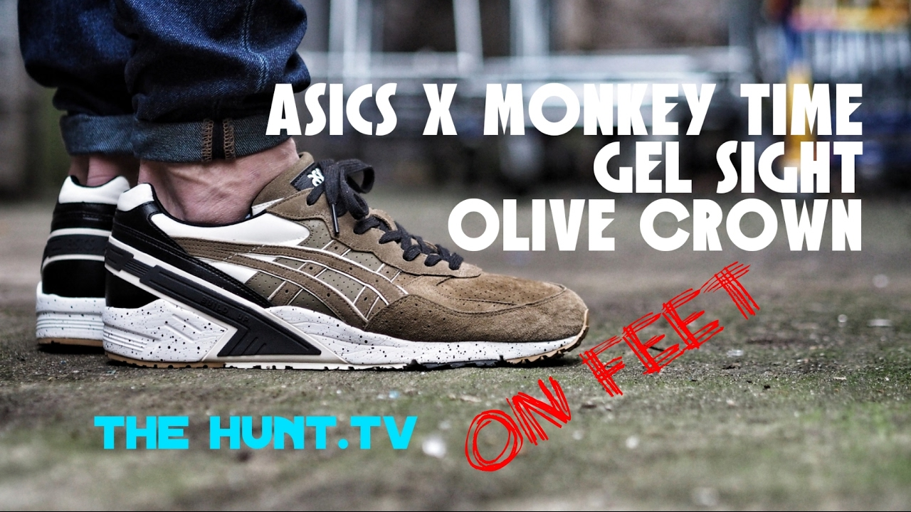new style eda46 68a0b Asics Monkey Time Gel Sight Olive Crown Detailed Look & On Feet Video