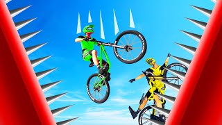 DODGE The DANGEROUS SPIKES To WIN! (Descenders Wipeout)