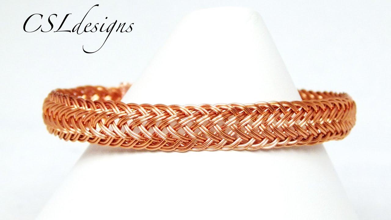 Double braided wirework bracelet - YouTube
