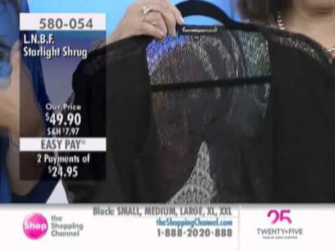 L.N.B.F. Starlight Shrug at The Shopping Channel 580054