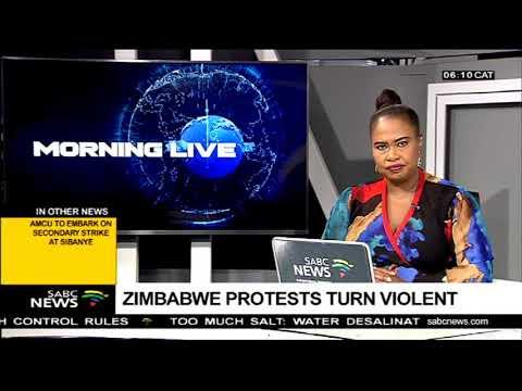 Zimbabwe protests turn violent