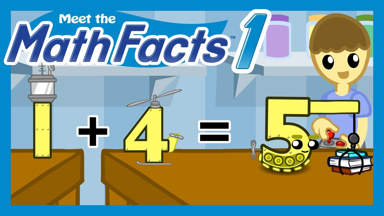 Meet the Math Facts Level 1 - 1+4=5 - YouTube