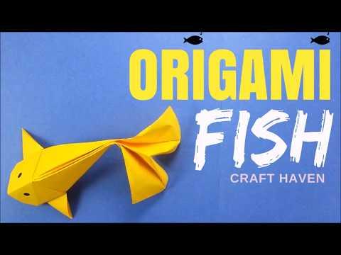How To Make Origami Fish - Origami Fish Koi Tutorial - Easy Origami Catfish Carp Paper Fish - DIY