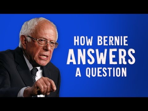 How Bernie Sanders Answers A Question
