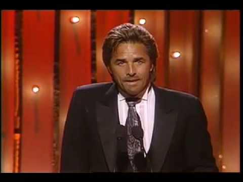 Don Johnson Wins Best Actor TV Series Drama - Golden Globes 1986