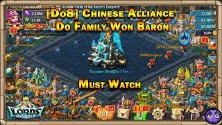 Lords Mobile | [Do8] Chinese Alliance Baron Fight | Do Family Got Baron Hoard!