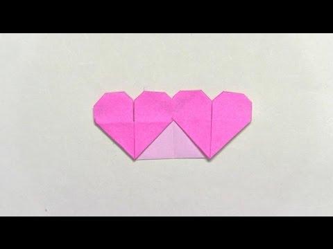 折り紙の 折り紙のハートの折り方 : youtube.com