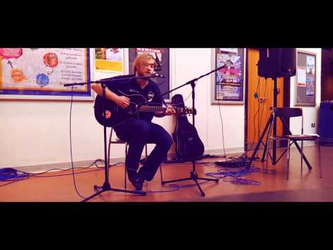 Matthew Myles of 'Grenouilles' performing 'Bones' for Save UEA Music @ the Hive