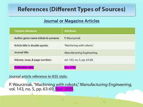 How to cite in IEEE Style