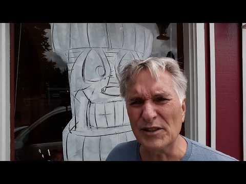 WINDOW PAINTING - Hawaiian Theme (part 1)