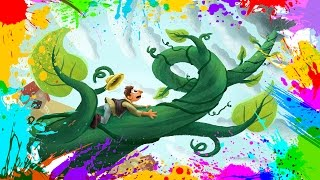 Painting Jack and the Beanstalk | Coloring Book Pages for Kids | Paint and color Jack and Beanstalk