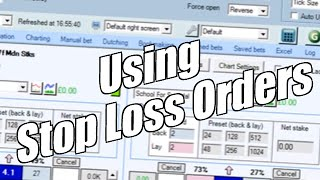 Betfair trading - Using stop loss orders