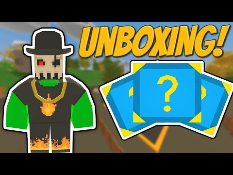 I UNBOXED 20+ BLUE MYSTERY BOXES! - Unturned Case Opening