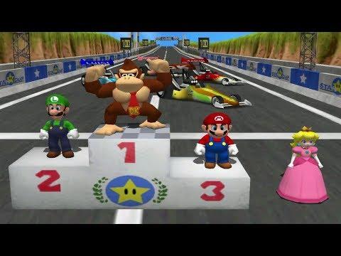 Mario Party 4 MiniGames - Donkey Kong Vs Mario Vs Luigi Vs Peach (Master CPU)