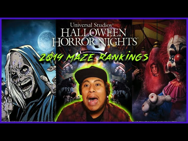 Official 2019 Maze Ranking | Halloween Horror Nights Hollywood