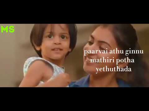Kannu athu gannu mathiri/kannam athu bannu mathiri /song /nazriya / with lyrics/whatsapp status...