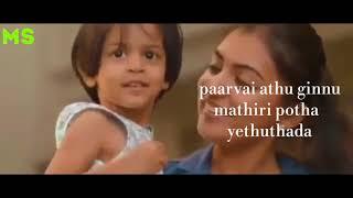 Kannu athu gannu mathiri/kannam athu bannu mathiri /song /nazriya / with lyrics/whatsapp status...