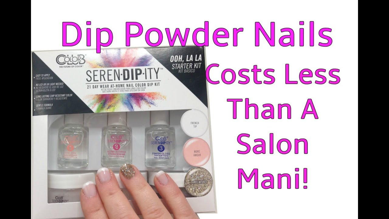 SerenDipIty At Home Dip Powder Nails from Walmart - YouTube