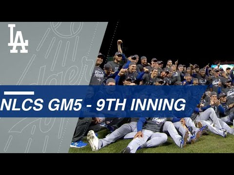 Watch the Dodgers lock up Game 5 of the NLCS in the 9th