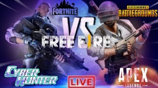 Cyber hunter vs Freefire vs PUBG vs Fortnite vs Apex
