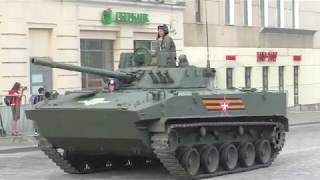 Военная техника | Репетиция Парада | Уборка дороги после военной техники