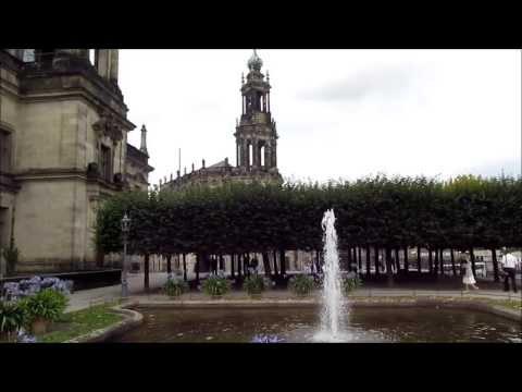 """""""Kleine Fontäne auf der Brühlschen Terrasse in Dreseden""""- Ein Video von Wolfgang Schmökel"""