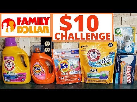 FAMILY DOLLAR $10 LAUNDRY CHALLENGE | ALL DIGITAL $5/$25 | BEGINNER FRIENDLY DEAL || DEALS THIS WEEK