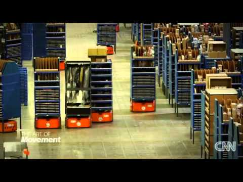 Robots Run Logistics Warehouse