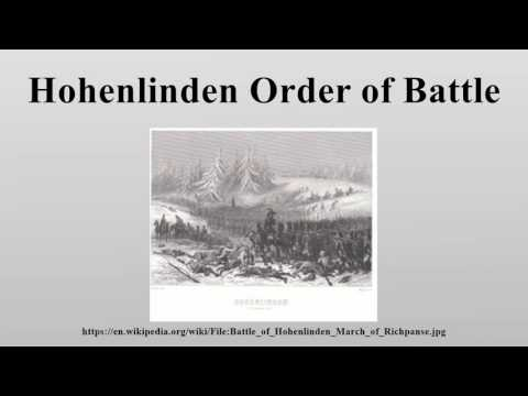 Hohenlinden Order of Battle