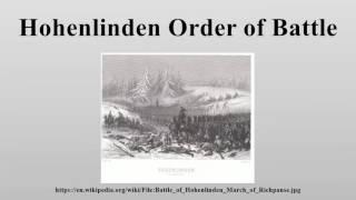 Hohenlinden Order of Battle