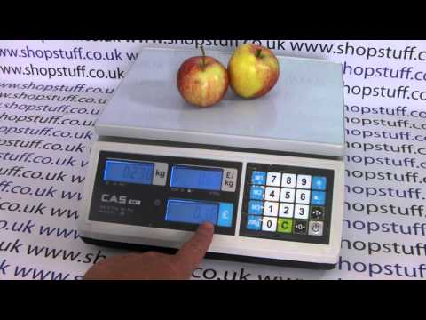 CAS ER Shop Retail Weighing Scales Demonstration