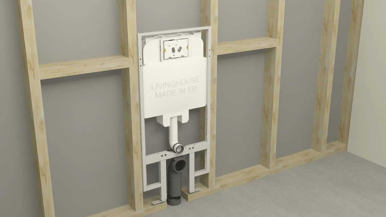 fitting and of concealed cisterns for wall hung toilets youtube - Wall Mount Toilet
