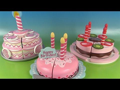 Gâteaux d'anniversaire à découper Fraise Chocolat Toy Cutting Velcro Cakes Strawberry Chocolate