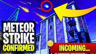 The 'METEOR STRIKE' is CONFIRMED! 😲 SEASON 4 HYPE (Fortnite: Battle Royale LIVE Gameplay)