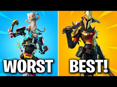 RANKING ALL BATTLE PASS SKINS FROM WORST TO BEST (FORTNITE CHAPTER 2 SEASON 3)